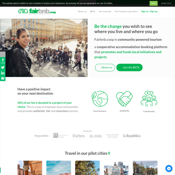 Fairbnb.coop - A smart and fair solution for community powered tourism.