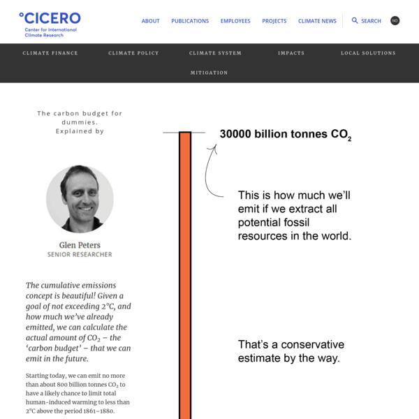 Carbonbudget for dummies - CICERO