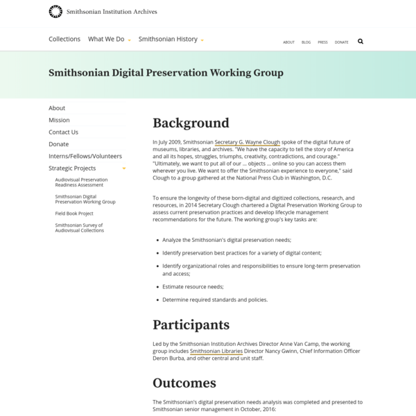 Smithsonian Digital Preservation Working Group