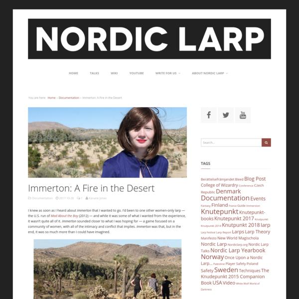 Immerton: A Fire in the Desert - Nordic Larp