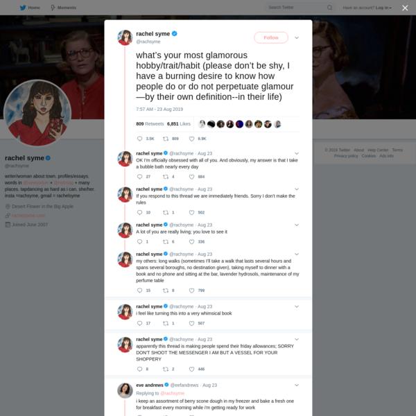rachel syme on Twitter