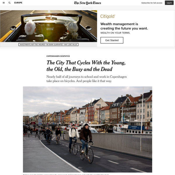 The City That Cycles With the Young, the Old, the Busy and the Dead