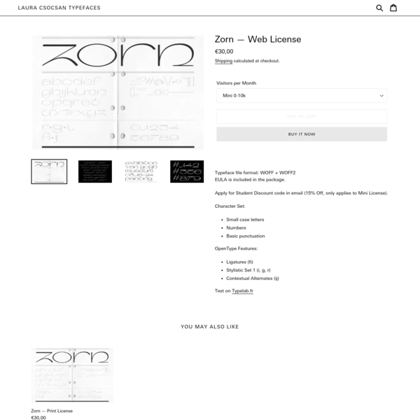 Zorn - Web License