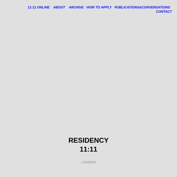 Residency 11:11