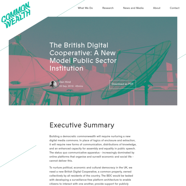 The British Digital Cooperative