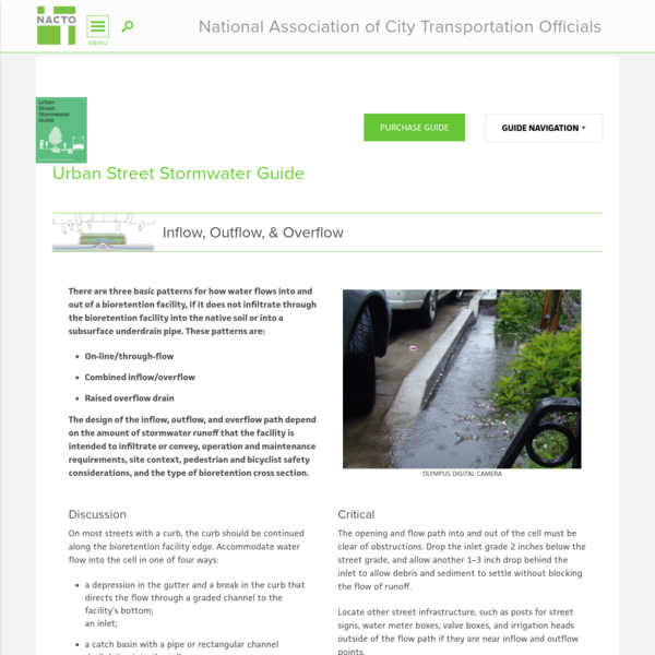 Inflow, Outflow, & Overflow | National Association of City Transportation Officials