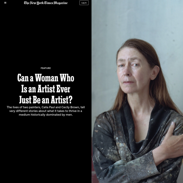 Can a Woman Who Is an Artist Ever Just Be an Artist? - The New York Times
