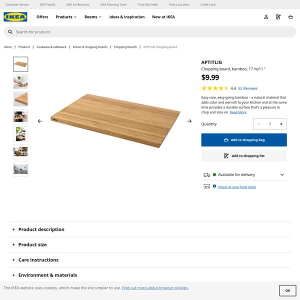 APTITLIG Chopping board - bamboo - IKEA