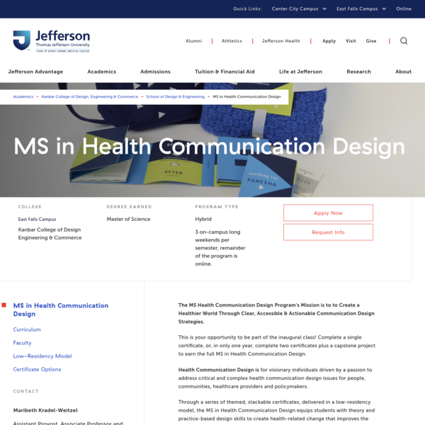 MS in Health Communication Design
