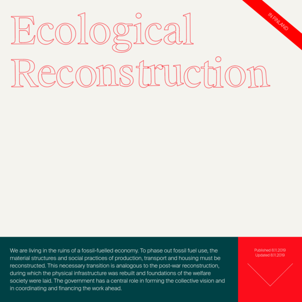 "Ecological reconstruction "" BIOS: Ekologinen jälleenrakennus"