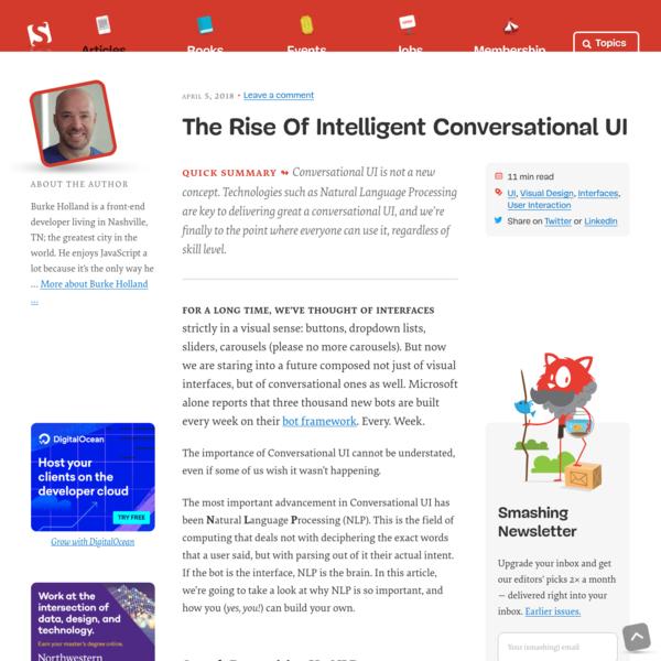 The Rise Of Intelligent Conversational UI - Smashing Magazine