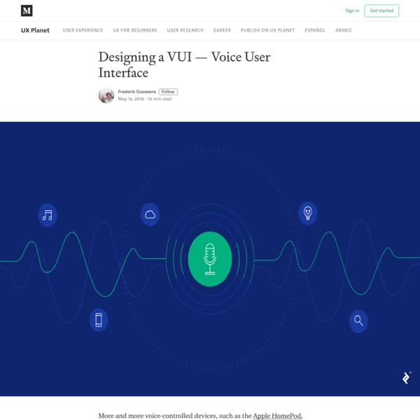 Designing a VUI - Voice User Interface