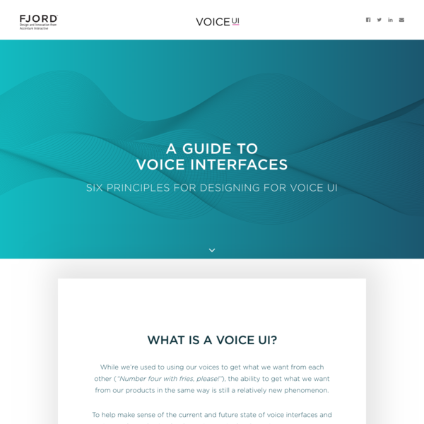 Fjord | Voice UI Guide