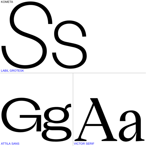 Typefaces | KOMETA