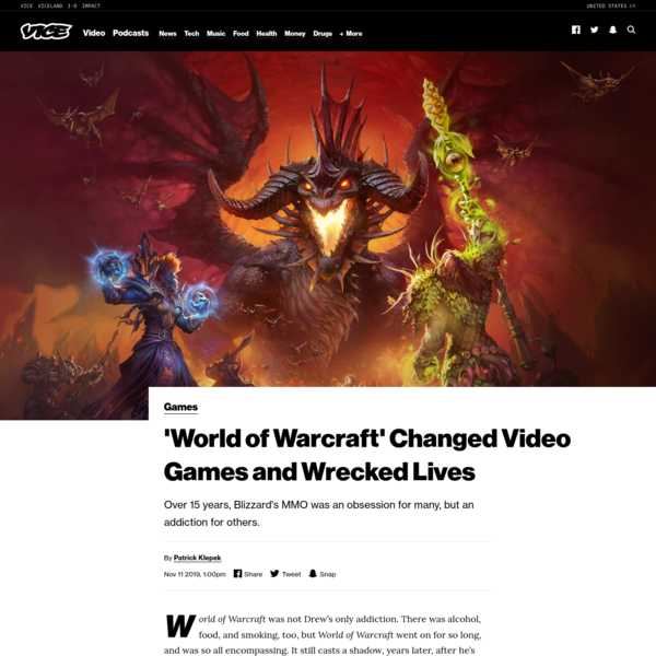 'World of Warcraft' Changed Video Games and Wrecked Lives