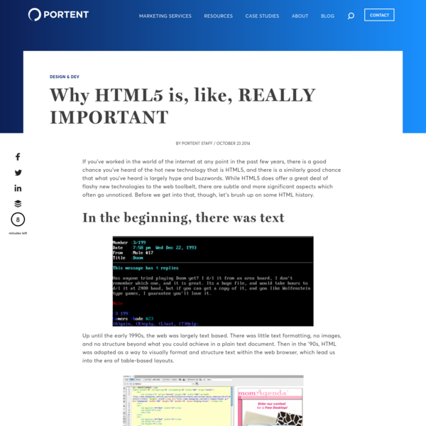 Why HTML5 is, like, REALLY IMPORTANT - Portent