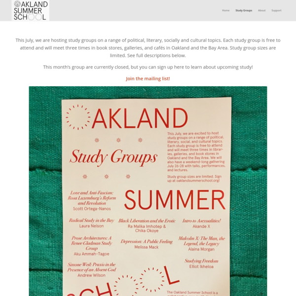 Study Groups - Oakland Summer School