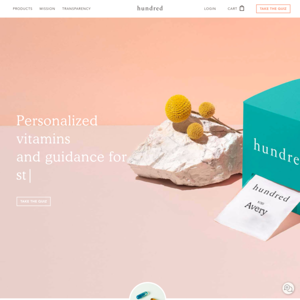 Personalized Daily Vitamins & Supplements - Hundred