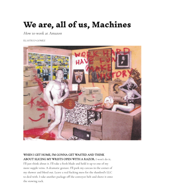 We are, all of us, Machines