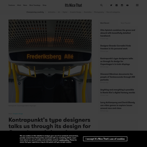 Kontrapunkt's type designers talks us through its design for Copenhagen's in-train displays | It's Nice That