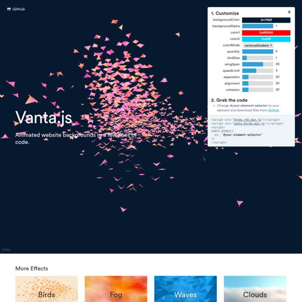 Vanta.js - 3D & WebGL Background Animations For Your Website