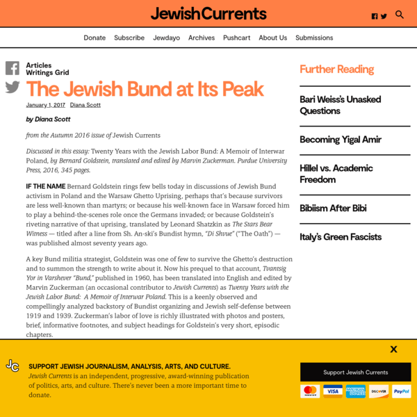 The Jewish Bund at Its Peak