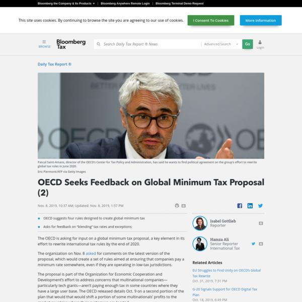 OECD Seeks Feedback on Global Minimum Tax Proposal (2)
