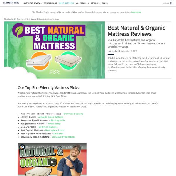 The Best Natural & Organic Mattresses 2019 (Updated)