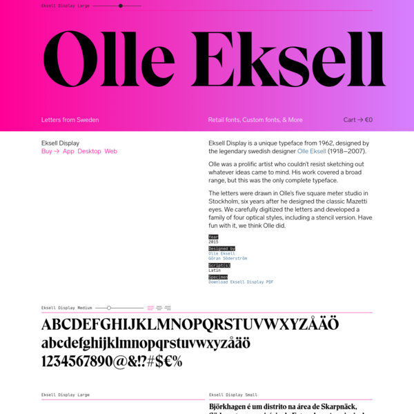 Eksell Display - Letters from Sweden