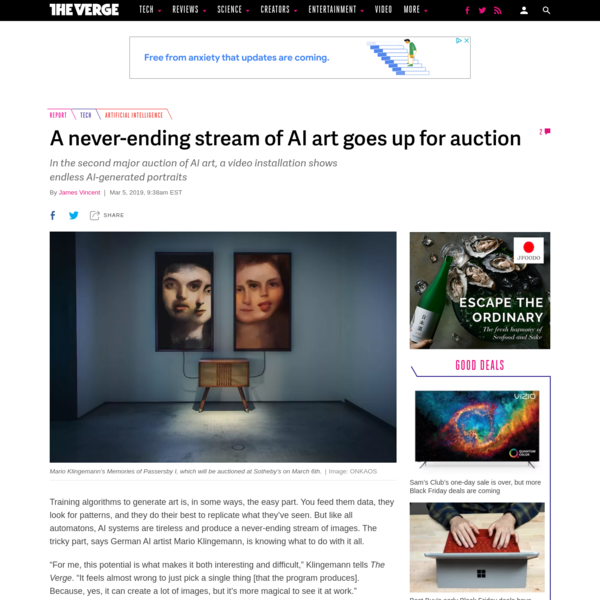 A never-ending stream of AI art goes up for auction