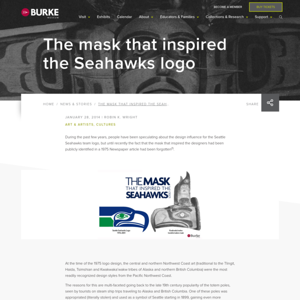 The mask that inspired the Seahawks logo