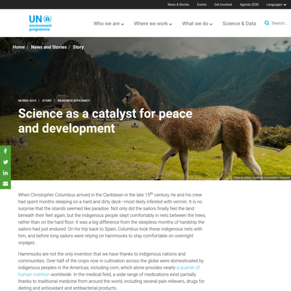 Science as a catalyst for peace and development