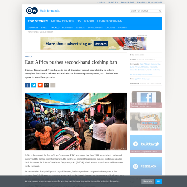 East Africa pushes second-hand clothing ban | DW | 26.02.2018