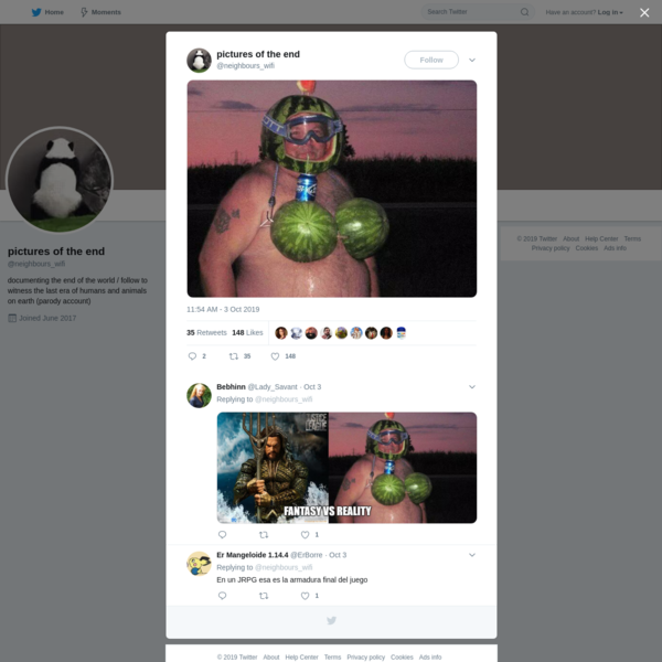 pictures of the end on Twitter