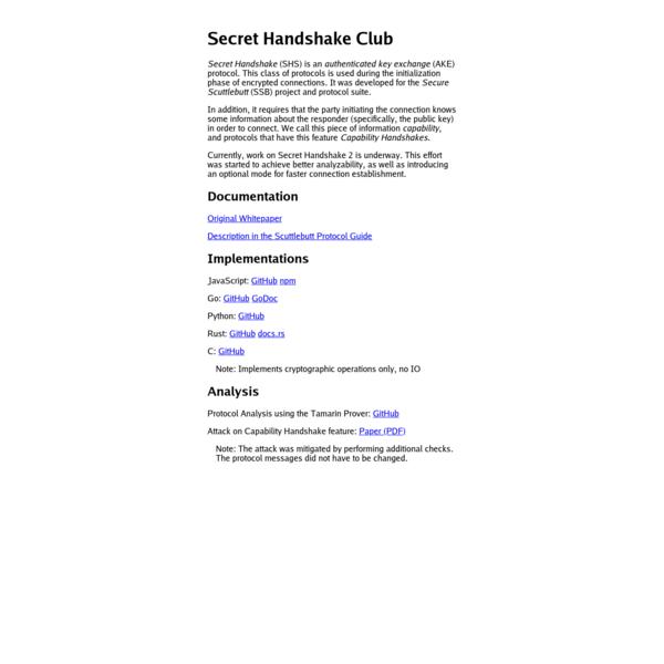 secret handshake club