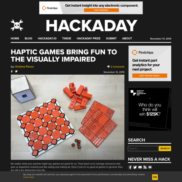 Haptic Games Bring Fun To The Visually Impaired