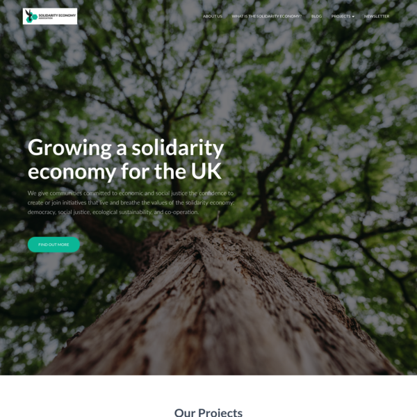 Solidarity Economy Association - Supporting the growth of the Solidarity Economy Movement in the UK.