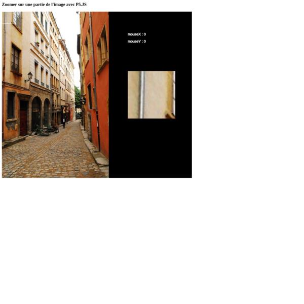 Images : zoom avec P5.JS