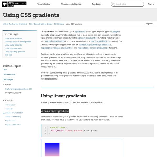 Using CSS gradients