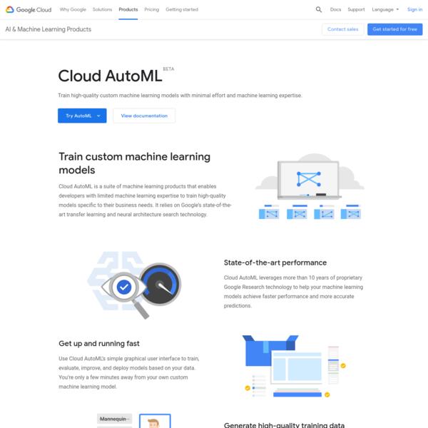 Cloud AutoML - Custom Machine Learning Models | AutoML | Google Cloud