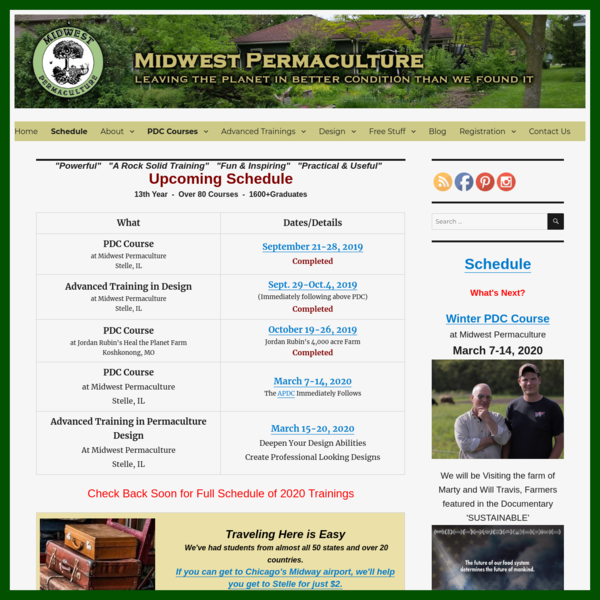 Schedule At-a-Glance - Midwest Permaculture