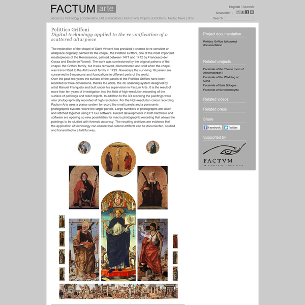Factum Arte :: Polittico Griffoni Digital technology applied to the re-unification of a scattered altarpiece