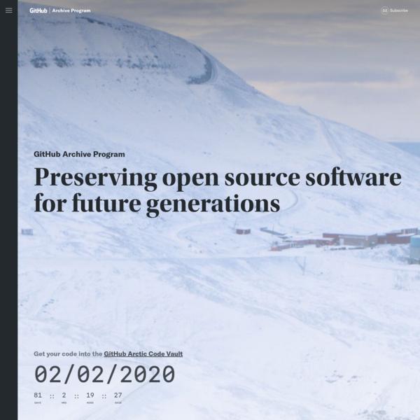 GitHub Archive Program