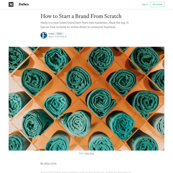 How to Start a Brand From Scratch