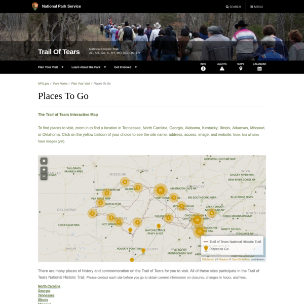 Places To Go - Trail Of Tears National Historic Trail (U.S. National Park Service)