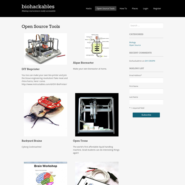 Projects | biohackables