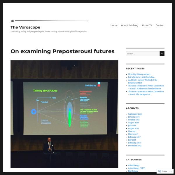 On examining Preposterous! futures