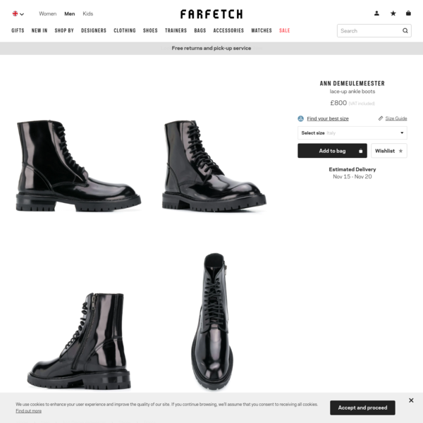 Black Ann Demeulemeester Lace-Up Ankle Boots | Farfetch.com