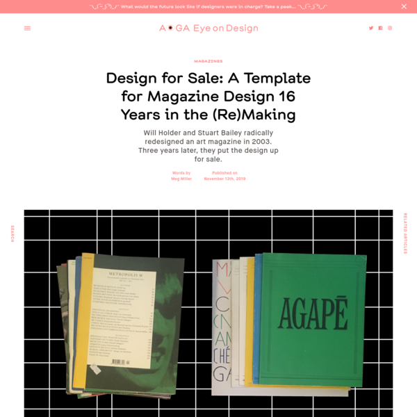 Design for Sale: A Template for Magazine Design 16 Years in the (Re)Making