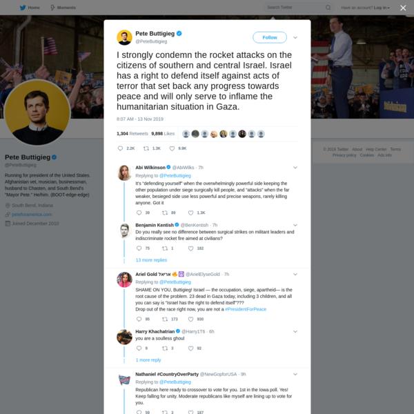 Pete Buttigieg on Twitter